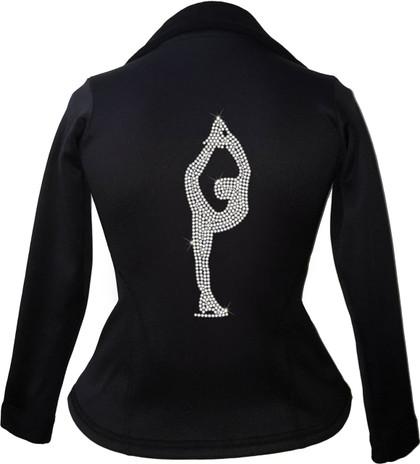 Kami-So Polartec Ice Skating Peplum Design Jacket - Biellmann spin