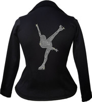 Kami-So Polartec Ice Skating Peplum Design Jacket - Spiral