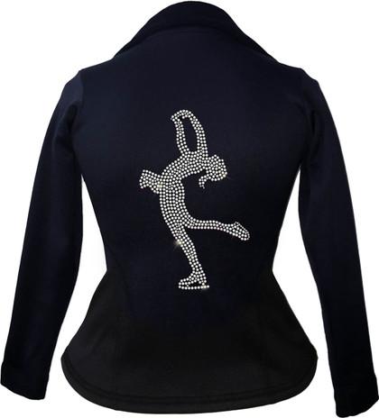 Kami-So Polartec Ice Skating Peplum Design Jacket - Layback Spin
