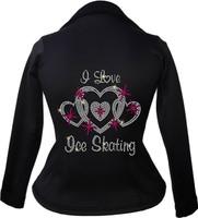 Kami-So Polartec Ice Skating Peplum Design Jacket - I Love Skating