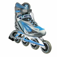 Roces Woman's Inline Outdoor Skates - R-300 (Silver/Blue)- Size Woman 9 / Men 8 Only (Refurbished)