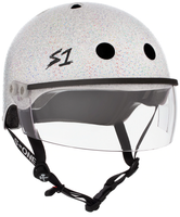S1 Lifer Visor Helmet - White Gloss Glitter