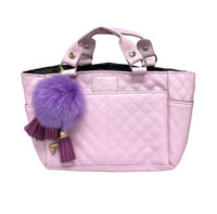 Kami-So Ice Skating Rink Tote - Great For Skate Guards Water Bottle and Other Skating Accessories (Lilac)