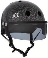 S1 Lifer Visor Helmet - GEN 2 - Black Gloss Glitter w/ Tint Visor