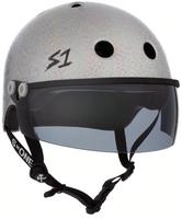 S1 Lifer Visor Helmet - GEN 2 - Silver Gloss Glitter w/ Tint Visor