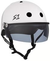 S1 Lifer Visor Helmet - GEN 2 - White Gloss w/ Tint Visor