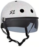 S1 Lifer Visor Helmet - GEN 2 - White Gloss Glitter w/ Tint Visor