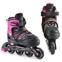 Pony Dash Inline Speed Skates Shoes Adjustable Outdoor Roller Skates- Size M Only (Refurbished)