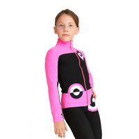IceDress Figure Skating Outfit - Thermal - Bubble Gum (Black, Hot Pink)
