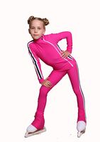 IceDress Figure Skating Outfit - Thermal - Olympus (Fuchsia with White lamps)