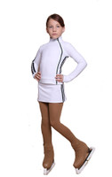 IceDress Figure Skating Outfit with Skirt - Thermal - Olympus (White with Black lamps)