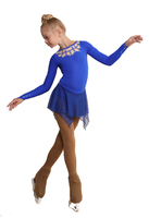 IceDress Figure Skating Dress - Thermal - Oriental Tale  (Cornfloewr Blue)