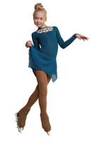 IceDress Figure Skating Dress - Thermal - Oriental Tale  (Aqua)