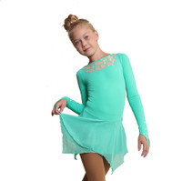 IceDress Figure Skating Dress - Thermal - Oriental Tale  (Mint)