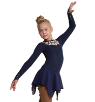 IceDress Figure Skating Dress - Thermal - Oriental Tale  (Dark Blue)