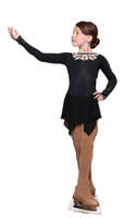 IceDress Figure Skating Dress - Thermal - Oriental Tale  (Black)