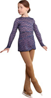 IceDress Figure Skating Dress - Thermal - Grace with guipure (Blue with Pink)