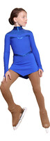 IceDress Figure Skating Dress - Thermal - Inspiration (Cornflower Blue with lycra)