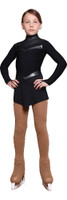 IceDress Figure Skating Dress - Thermal - Inspiration (Black with lycra)