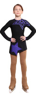 IceDress Figure Skating Dress - Thermal - Constellation (Black with Purple)