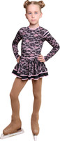 IceDress Figure Skating Dress - Thermal - Duet with guipure (Black wit Pink)
