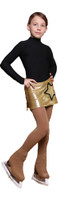 IceDress - Figure Skating Skirts - Golden Sky (Gold with Black)