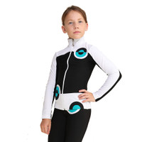 IceDress Figure Skating Jacket - Thermal - Bubble Gum (Black, White, Turquoise)