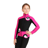 IceDress Figure Skating Jacket - Thermal - Bubble Gum (Black, Fuchsia)
