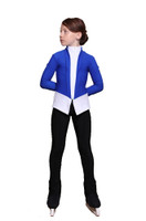 IceDress Figure Skating Jacket - Thermal - Benefit (Cornflower Blue with White and Black)