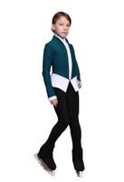 IceDress Figure Skating Jacket - Thermal - Benefit (Mint with White and Black)