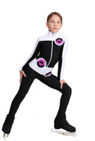 IceDress Figure Skating Pants - Thermal - Bubble Gum (Black, White, Purple)