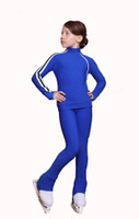 IceDress Figure Skating Pants - Thermal - Olympus (Cornflower Blue with White lamps)