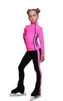 IceDress Figure Skating Pants - Thermal - Olympus (Hot Pink and Black)