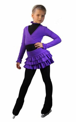 IceDress - Figure Skating Skirt s - Lambada (Purple)