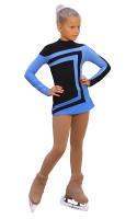 IceDress Figure Skating Dress-Thermal -  Avangard (Black with Blue)