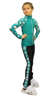 IceDress Figure Skating Outfit - Thermal - Snowflake (Mint)