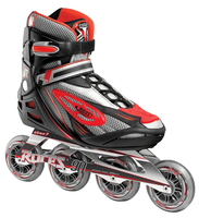 Roces Men's Inline Outdoor Skates - R-300 (Black/Red)- Size Woman 9 / Men 8 Only (Refurbished)