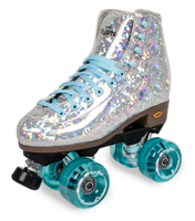 Sure-Grip Quad Roller Skates - Prism *Plus* Silver with Light Blue Limited Edition
