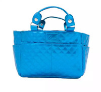 Kami-So Ice Skating Rink Tote - Great For Skate Guards Water Bottle and Other Skating Accessories (Bahama Blue)
