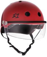 S1 Lifer Visor Helmet - Scarlet Red Gloss w/ Clear Visor