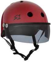 S1 Lifer Visor Helmet - Scarlet Red Gloss w/ Tint Visor