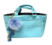 Kami-So Ice Skating Rink Tote - (Cloud Nine) with Blue Charm