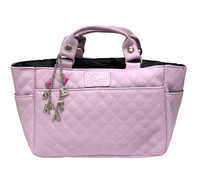 Kami-So Ice Skating Rink Tote (Lilac) with Silver/Pink Crystal Skate Bracelet