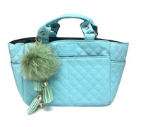 Kami-So Ice Skating Rink Tote - (Cloud Nine) with Green Charm