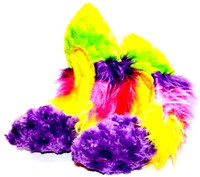 Crazy Fur Soakers CF25 - Purple and Lime Rainbow