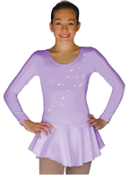ChloeNoel DLP728  Plain Solid Sanded Poly Spandex Dress Light Lilac w/ Snow Flakes