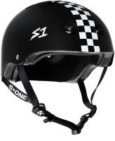 S1 Lifer Helmet - Black Matte w/ White Checkers
