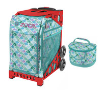 Zuca Sport Bag - Kokomo Mermaid w/Lunchbox (Limited Edition/Red Frame)