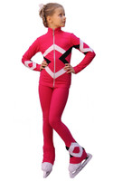 IceDress Figure Skating Outfit - Thermal - Bauer (Pink, Black and White)