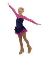 Jerry's Ice Skating Dress   - 472 The Crystal Caper (Navy/Rose)